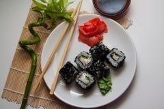 Caviar rolls Stock Photography