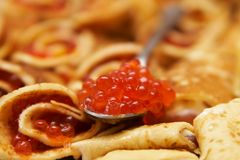 Caviar rouge images libres de droits