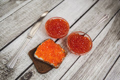 Caviar rouge Images stock