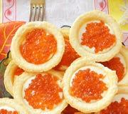 Caviar rouge Photographie stock libre de droits