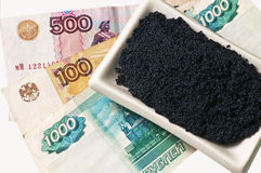 Caviar and Rubel Stock Images