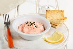 Caviar salad in ceramic bowl Stock Photo