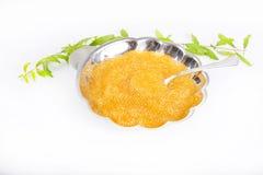 Caviar salado granoso del lucio Fotos de archivo