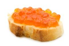 Caviar sandwich Stock Photo