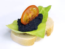 Caviar Sandwich Royalty Free Stock Images