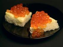 Caviar sandwich1 Fotografía de archivo libre de regalías