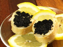 Caviar sandwiches Stock Image