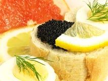 Caviar snack, closeup Royalty Free Stock Photography