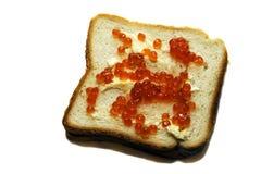 Caviar sur le pain Photos libres de droits