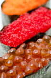 Caviar sushi, macro Stock Photography