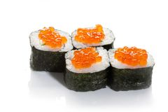 Caviar sushi maki Royalty Free Stock Photos