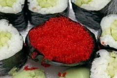 Caviar sushi Stock Images