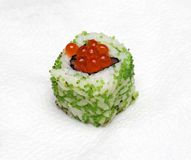 Caviar sushi Royalty Free Stock Photography