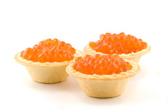 Caviar in tartlets Royalty Free Stock Photo
