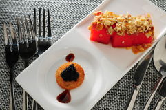 Caviar toast Royalty Free Stock Photo