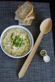 Caviar traditionnel d'aubergine Photo stock