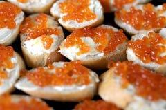Caviar vermelho Fotografia de Stock
