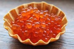 Caviar vermelho Imagem de Stock