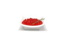 Caviar vermelho com cebola da mola fotos de stock