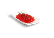 Caviar vermelho com cebola da mola imagem de stock