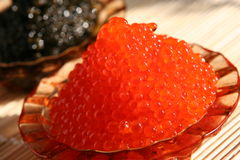 Caviar vermelho e preto Fotografia de Stock