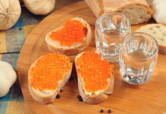 Caviar and vodka Stock Image