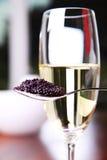 Caviar y champán Imagen de archivo