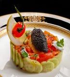 Caviar y salmones Imagen de archivo libre de regalías
