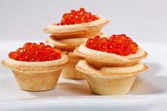 Caviare. Food series: red caviar for a taste Royalty Free Stock Photos
