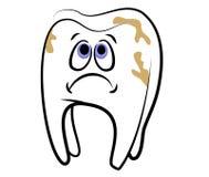 Cavidade dental do dente dos desenhos animados Imagens de Stock