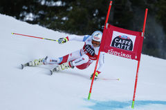 CAVIEZEL Gino in Audi Fis Alpine Skiing World-Schale Men's-Riesen stockbilder
