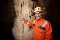 Caving in Spain Stock Image
