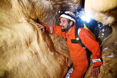 Caving in Spain. Caving in Zaragoza Province, Aragon, Spain stock photography