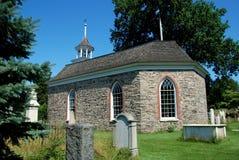 Cavità sonnolenta, NY: Vecchia chiesa olandese 1685 Fotografie Stock