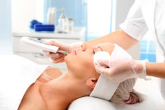 Cavitation peeling, beauty treatment Stock Photos
