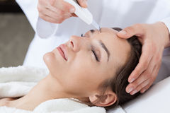 Cavitation peeling in spa Royalty Free Stock Images