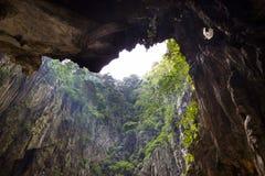 Cavity inside Batu cave to Mountain Royalty Free Stock Photo