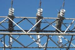 Cavo ad alta tensione di distribuzione di elettricità della centrale elettrica Immagine Stock