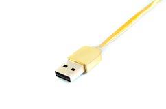 Cavo ad alta velocità di USB dell'oro premio Fotografie Stock Libere da Diritti
