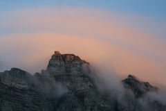Cavo Cape Town automobilistico, Sudafrica della montagna della Tabella Fotografia Stock Libera da Diritti