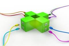 Cavo del computer di USB Immagine Stock Libera da Diritti