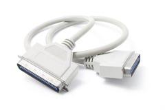Cavo del connettore di SCSI Fotografia Stock