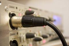 Cavo del microfono Immagine Stock