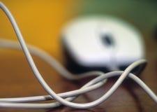 Cavo del mouse del calcolatore Fotografie Stock Libere da Diritti