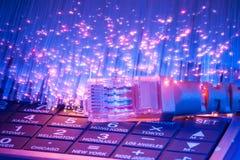 Cavo della rete con tecnologia alta tecnologia Immagine Stock Libera da Diritti