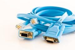 Cavo della rete per configurare i router Immagine Stock