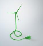 Cavo di alimentazione della turbina di vento Fotografie Stock