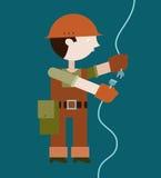 Cavo di collegamento dell'elettricista Immagine Stock Libera da Diritti