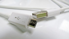 Cavo di Conexiones USB y Fotografia Stock Libera da Diritti
