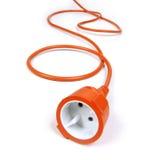 Cavo di estensione arancione Fotografia Stock Libera da Diritti